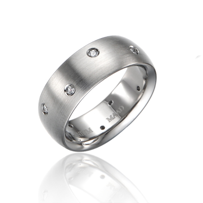 TitaniumGold 잉글리쉬글로리아 심플밴드 티타늄반지 (8mm)_Titanium & Cubic zirconia_10ea