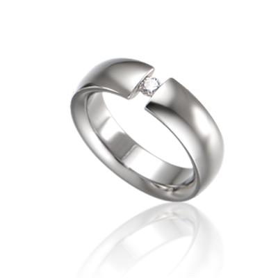 TitaniumGold 잉글리쉬헤로스 텐션밴드 티타늄반지 (6mm)_Titanium & Cubic zirconia