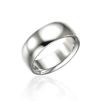 TitaniumGold 잉글리쉬 심플밴드 티타늄반지 (8mm)_Titanium