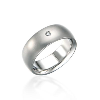 TitaniumGold 잉글리쉬유니언 심플밴드 티타늄반지 (8mm)_Titanium & Cubic zirconia