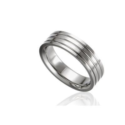 TitaniumGold 게르만 심플밴드 티타늄반지_4L (5.5mm)_Titanium