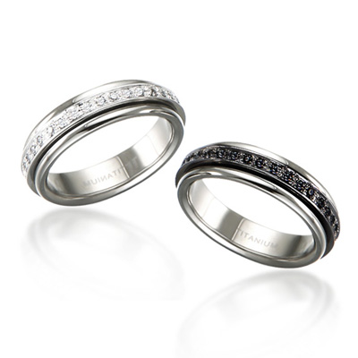 TitaniumSilber 그리크프린세스 레이어드 티타늄 커플링 (5.5mm)_Titanium & Plated Silver, Cubic zirconia_36eaX2