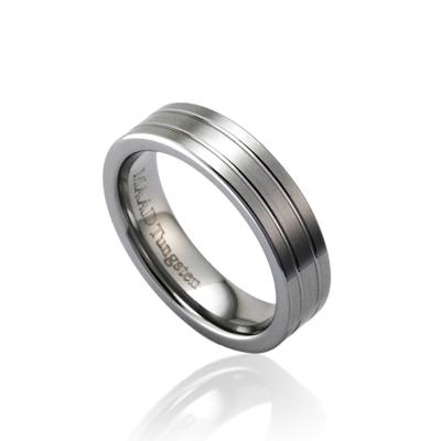 TungstenGold 게르만 심플밴드 텅스텐반지_2L_Satin (5mm) Tungsten