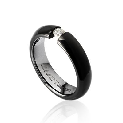 TungstenGold 잉글리쉬헤로스 텐션밴드 텅스텐반지 (5mm) Tungsten(Black PVD) & Cubic zirconia