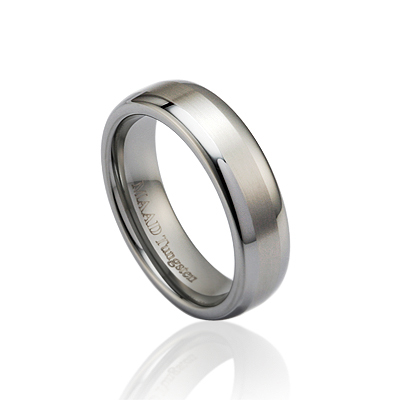 TungstenGold 스위드쉬 심플밴드 텅스텐반지_Satin (6mm) Tungsten