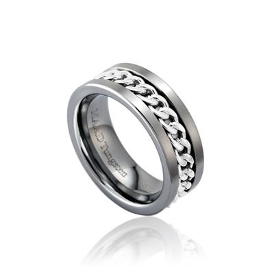 TungstenGold 게르만 체인밴드 텅스텐반지 (7mm) Tungsten & 14k_WG