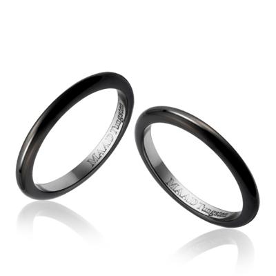 TungstenGold 잉글리쉬 심플밴드 텅스텐 커플링 (2,2mm) Tungsten(Black PVD)