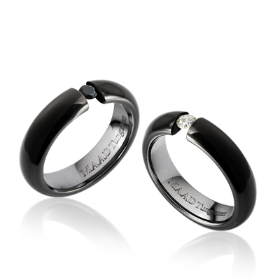 TungstenGold 잉글리쉬헤로스 텐션밴드 텅스텐 커플링 (5,5mm) Tungsten(Black PVD) & Cubic zirconia