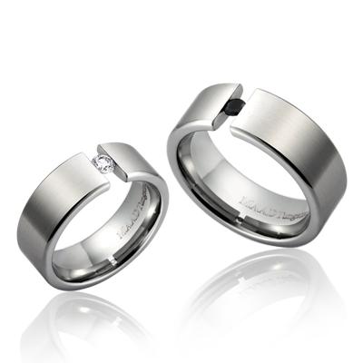 TungstenGold 게르만헤로스 텐션밴드 텅스텐 커플링_Satin (6,8mm) Tungsten & Cubic zirconia