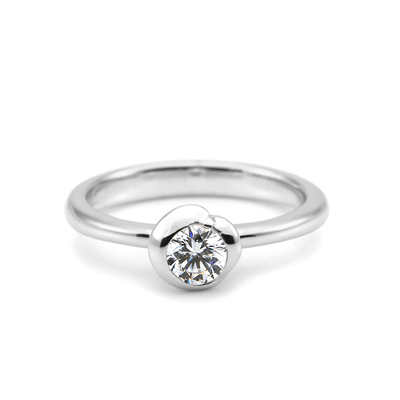 Maad Bridal Freesia 0.3ct Solitaire Ring 18k_WG
