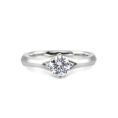 Maad Bridal Demeter 0.5ct Solitaire Ring 18k_WG