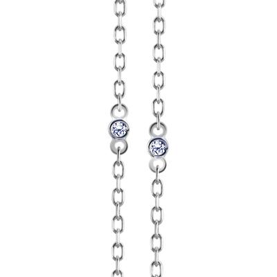 Maad Bridal Frise paved Link Chain 18k_WG