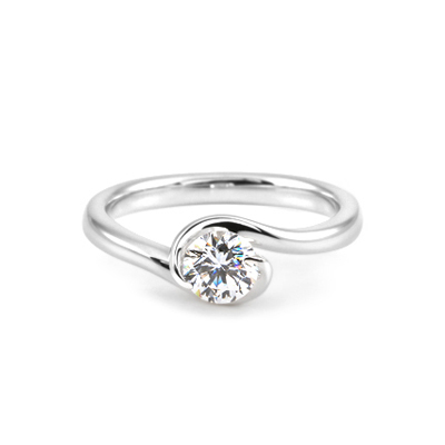 Maad Bridal Philia 0.5ct Solitaire Ring 18k_WG