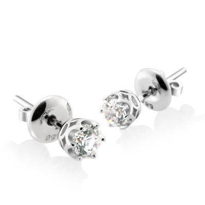 Maad Bridal Frise 0.3ct Solitaire Earring 18k_WG