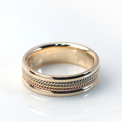 Goldschmuck Roman wired Ring (소) 14k
