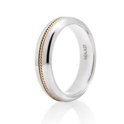 Goldschmuck Italian wired Ring 14k_WG