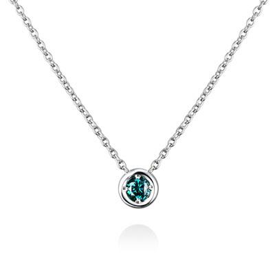 Hemisphere 헤미스피어 목걸이 (소) 14k_WG blue diamond
