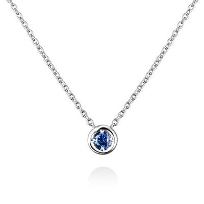 Hemisphere 헤미스피어 목걸이 (소) 14k_WG sapphire