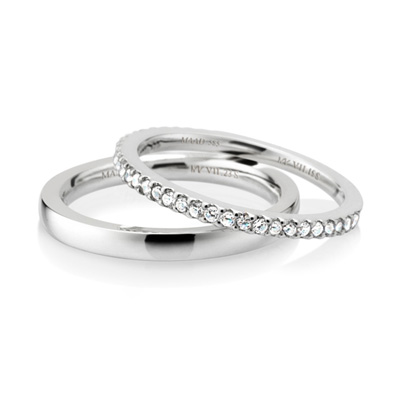 MR_Band VII MR-VII 스퀘어밴드링 (소_2.3mm+소_1.5mm) 14k_WG white zircon & flat
