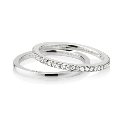 MR_Band VII MR-VII 스퀘어밴드링 (소_1.5mm+소_1.5mm) 14k_WG white zircon & flat