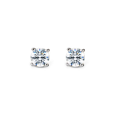 Birdcage 버드케이지_4prong 귀걸이 14k_WG 0.2ct white zircon
