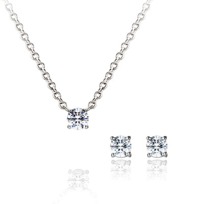 Birdcage 버드케이지_4prong Set 14k_WG 0.1ct+0.1ct white zircon