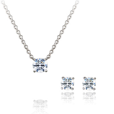 Birdcage 버드케이지_4prong Set 14k_WG 0.3ct+0.2ct white zircon