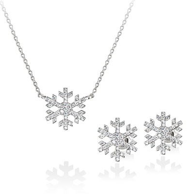 Snow 눈의 꽃 Set white zircon