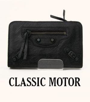 모터 클래식 지갑 [리얼 이태리 베이비 쉽스킨] 블랙