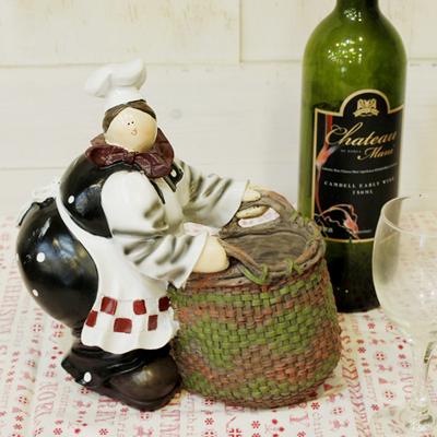 주방 아줌마 바구니 와인 홀더