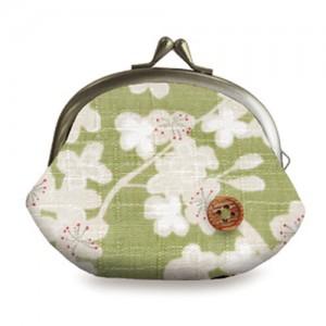 에다사쿠라-가마구치동전지갑(그린)