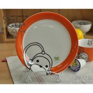 신지카토 페인트클럽 접시(원숭이)
