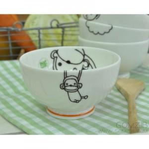 신지카토 페인트클럽 밥공기(원숭이)