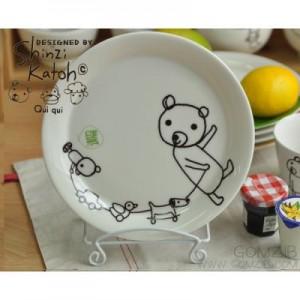 신지카토 페인트클럽 접시(기차놀이)