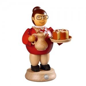 스모킹맨 / 커피와 케익을 대접하는 여인,18Cm - 16171