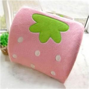 핑크딸기등받이쿠션