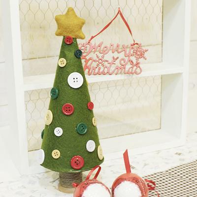 크리스마스 단추 콘 트리 (소)