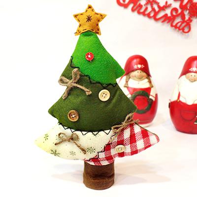 패브릭 버튼 크리스마스 트리 (Small)