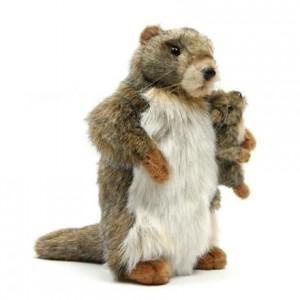 [HANSA]Marmot Mother & Son(마모트1) 4162번/20x31cm