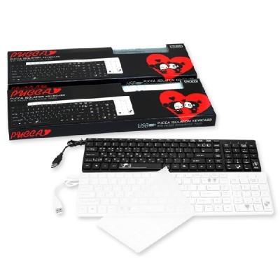 [뿌까] PUCCA PK300 아이솔레이션 키보드 106Key USB방식 키스킨포함