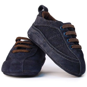 [TRUMPETTE] Suede Tracks Shoes(Navy)_아기신발
