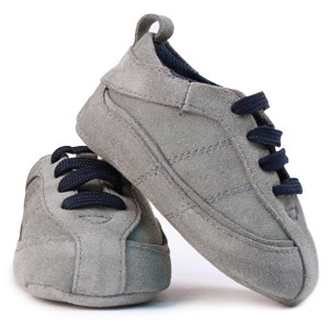 [TRUMPETTE] Suede Tracks Shoes(Grey)_아기신발