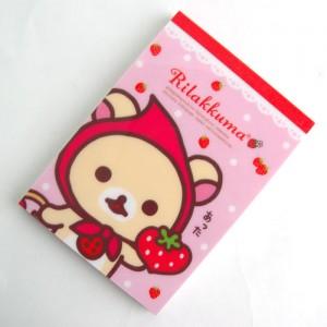 리락쿠마 빨간두건 딸기 메모지