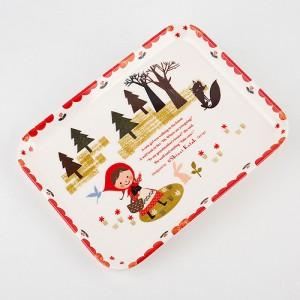 빨간 두건 소녀 사각 쟁반 -신지카토