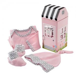 [베이비아스펜] 홈 베이비 핑크 3-piece 기프트 세트