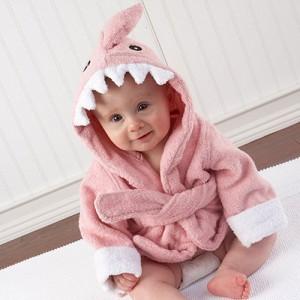 [베이비아스펜] 테리 핑크 상어 목욕가운