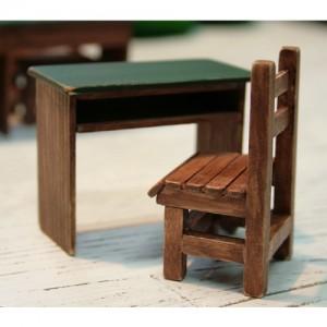 핸드메이드 - 옛날 책상&의자 셋트(1인용)