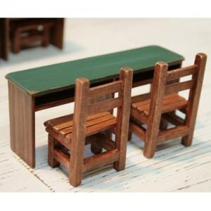 핸드메이드 - 옛날 책상&의자 셋트(2인용)