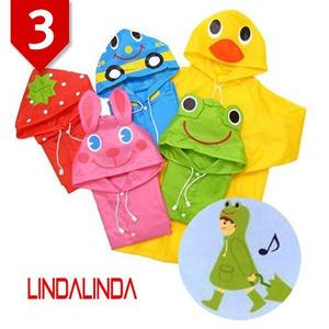 LINDALINDA 린다린다 일본 정품 유아동 레인코트&전용백 셋트/우비/비옷 3종 택1