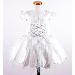 [2~4T]화이트 요정 깃털 장식 코스튬 드레스